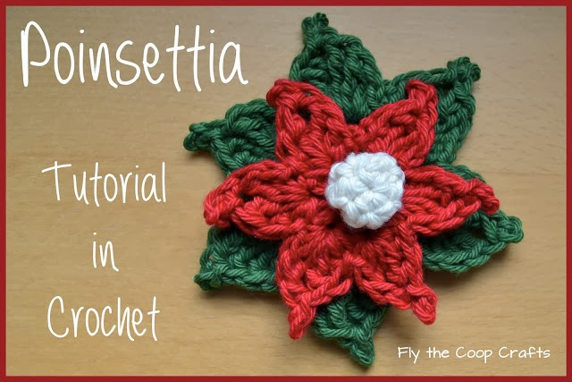 Free Crochet Patterns For Christmas Flowers : tangled happy: Crochet Poinsettia