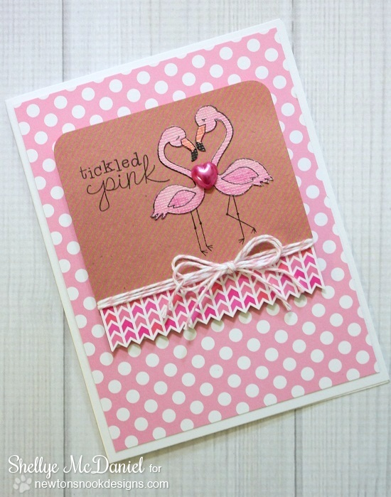 Shelly McDaniel  - Tickled Pink Flamingo Card  | Stamps by Newton's Nook Designs