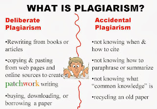 plagiarism, accidental or on purpose chart