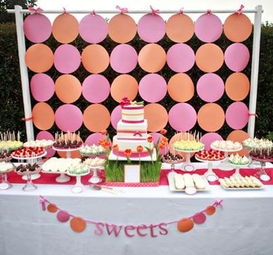 Polka Dot Backdrop A growing trend in weddings this year is to offer your