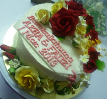 KEK HANTARAN BUTTERCREAM + GUMPASTE FLOWER