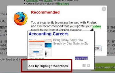 ads by HighlightSearches screenshot