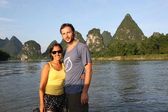 Atardecer en el río Li, Guilin.
