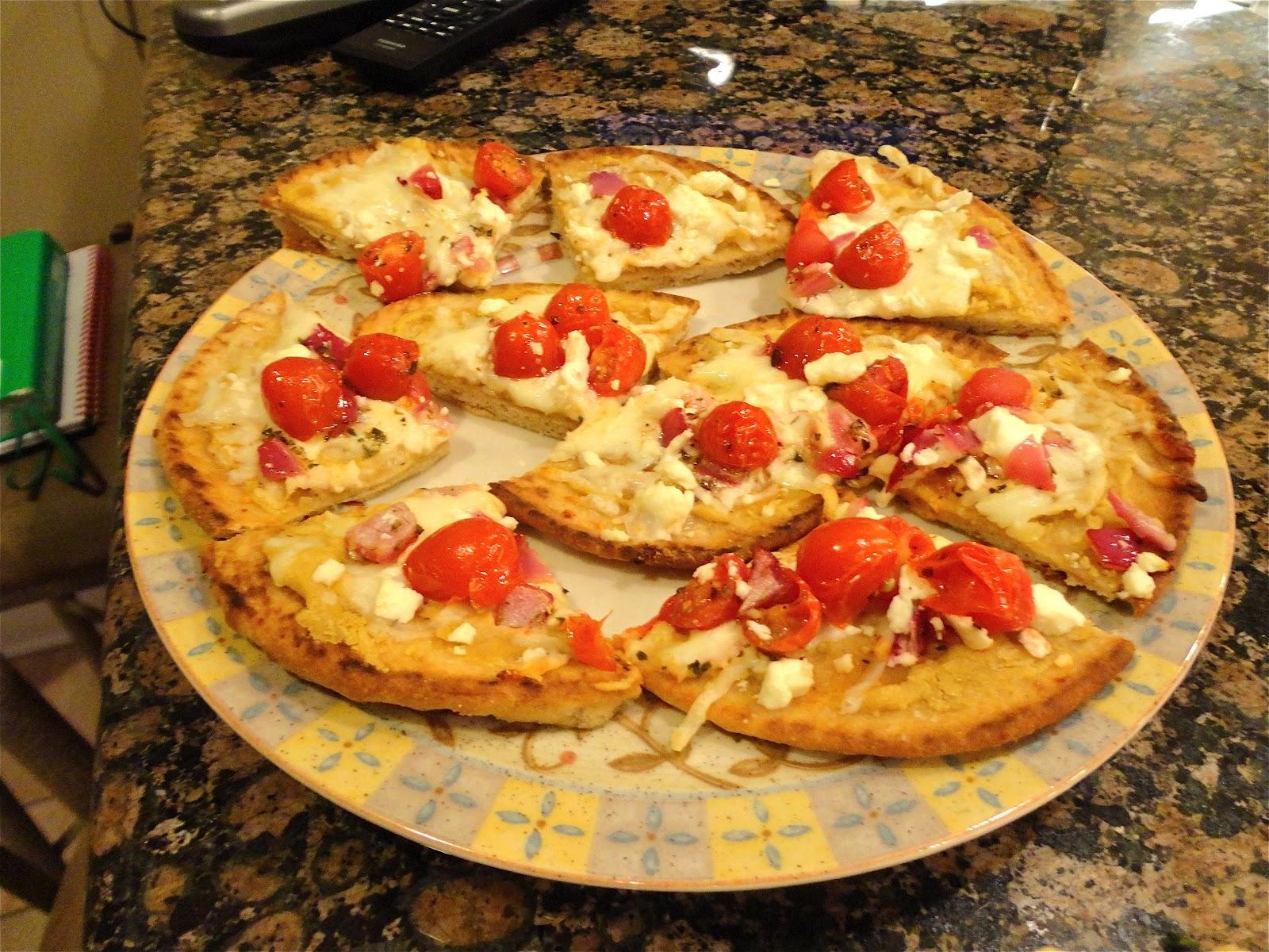 BinomialBaker: Mini Greek Pita Pizzas