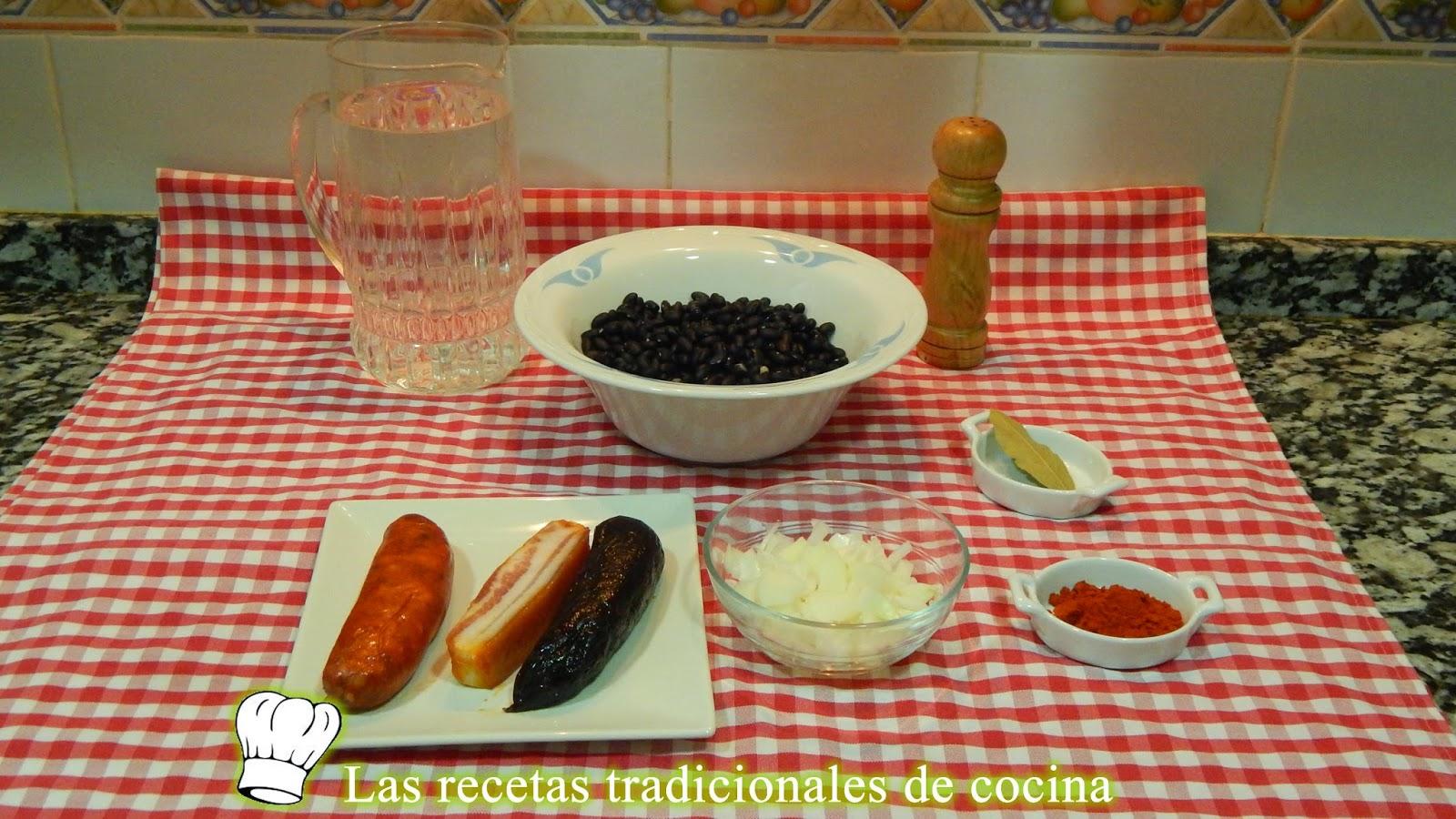 Receta de alubias negras a la Vasca