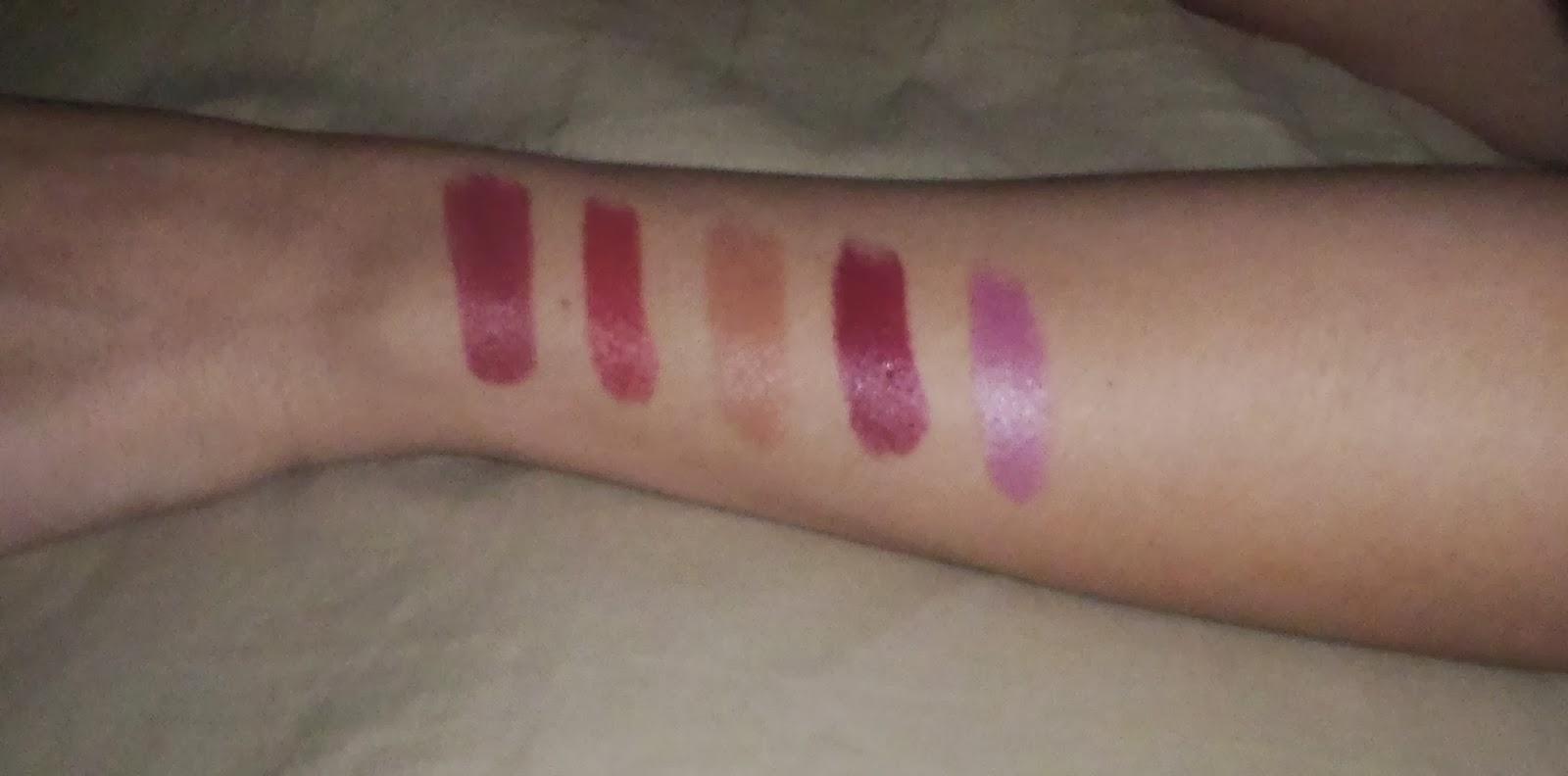 swatche, rouge à lèvres, kiko, 914, 901, 923, 707, 513