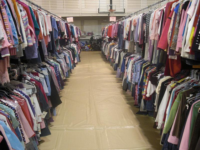 I also mentioned that I almost always sell outgrown clothing at these sales