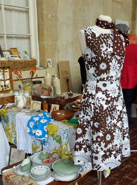 A stall at Bath vintage market
