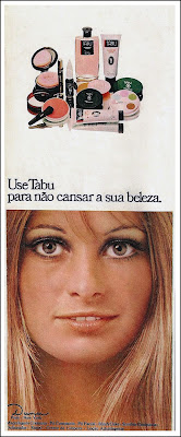 Tabu - Dana,  moda anos 70; propaganda anos 70; história da década de 70; reclames anos 70; brazil in the 70s; Oswaldo Hernandez