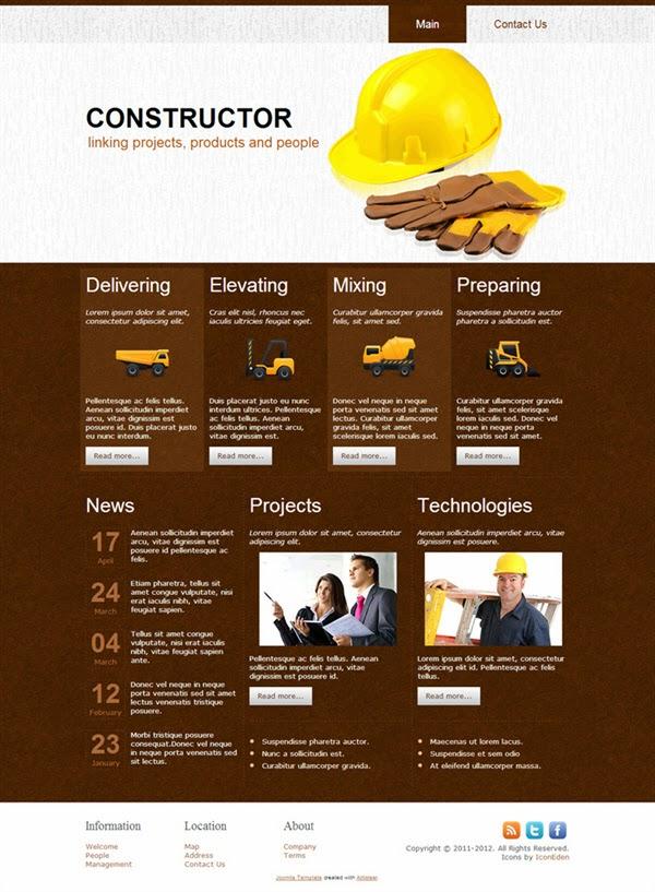 Constructor - Free Joomla! Template