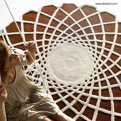 Alfombra moderna circular