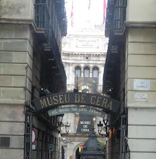 Entrada del Museo de Cera de Barcelona