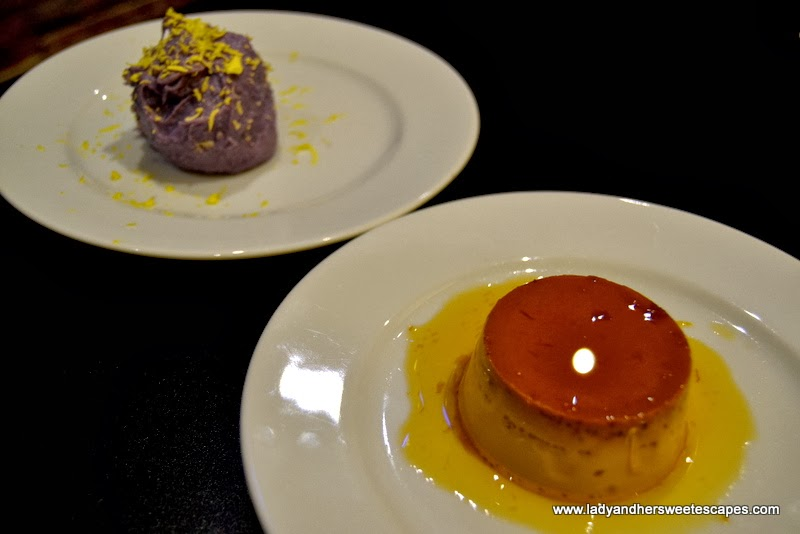 leche flan and ube halaya at Soy and Pepper Reef Mall