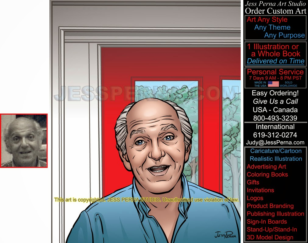 how to order cartoon caricature ads and gifts of people and