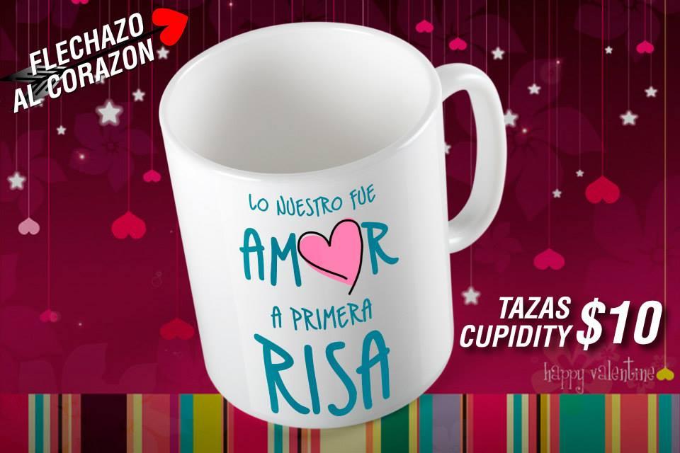 Tazas Cupidity para San Valentín Personalizadas con Frases
