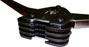 Клещи - пломбиратор cкрепляющее устройство для полипропиленовых лент