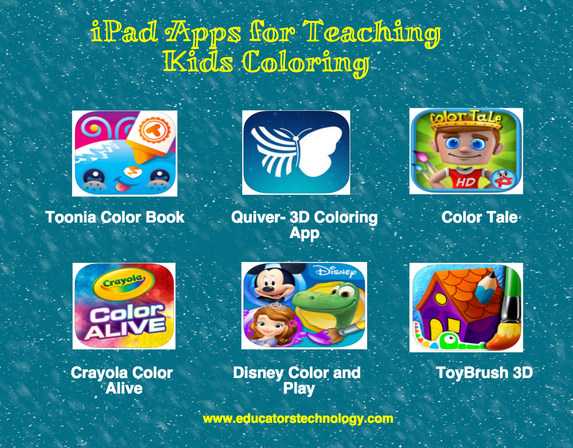 6 Great iPad Apps for Teaching Kids Coloring ~ Educational ...