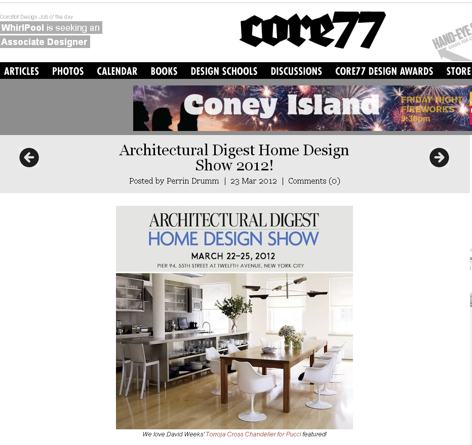Manhattan forest products inc more press from the for Architectural digest home show