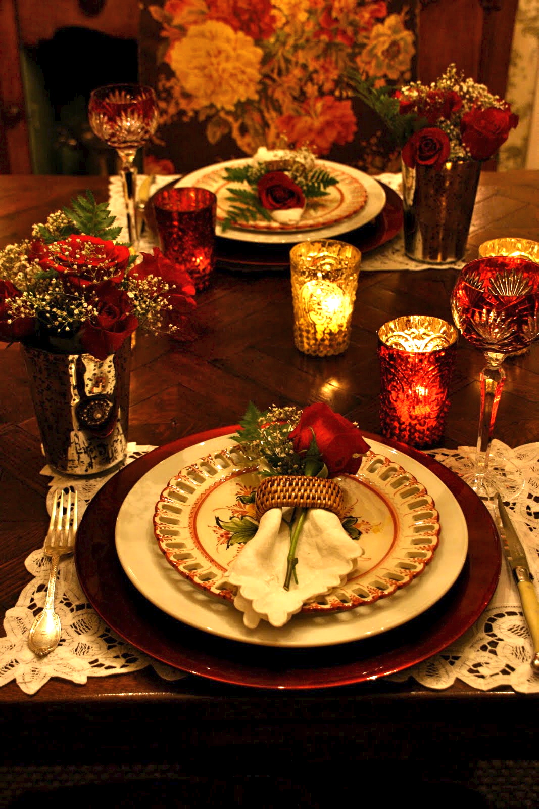 How to set a romantic dinner table for two for Romantic dinner