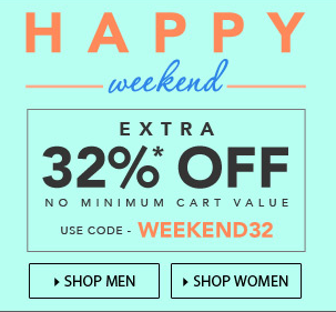 Jabong : Flat 32% off || No minimum purchase || 118663 Products