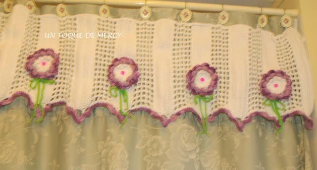 Accesorios De Baño A Crochet:UN TOQUE DE MERCY: CORTINA PARA BANO DE CROCHET