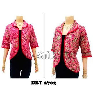 DBT2702 Model Baju Blouse Batik Modern Terbaru 2013
