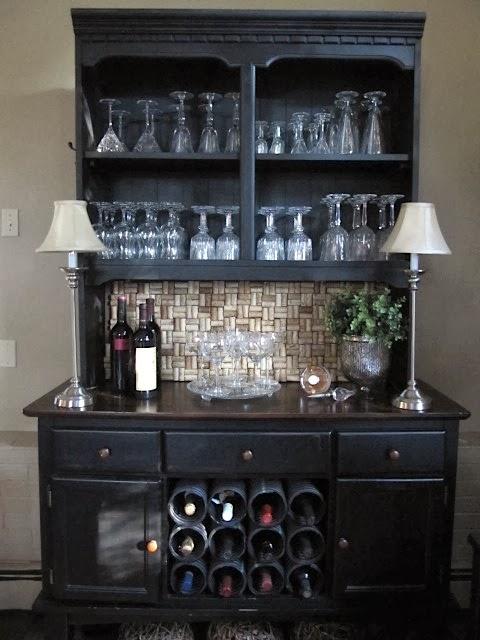 Sew many ways wine cork backsplash finished for Wine cork backsplash diy