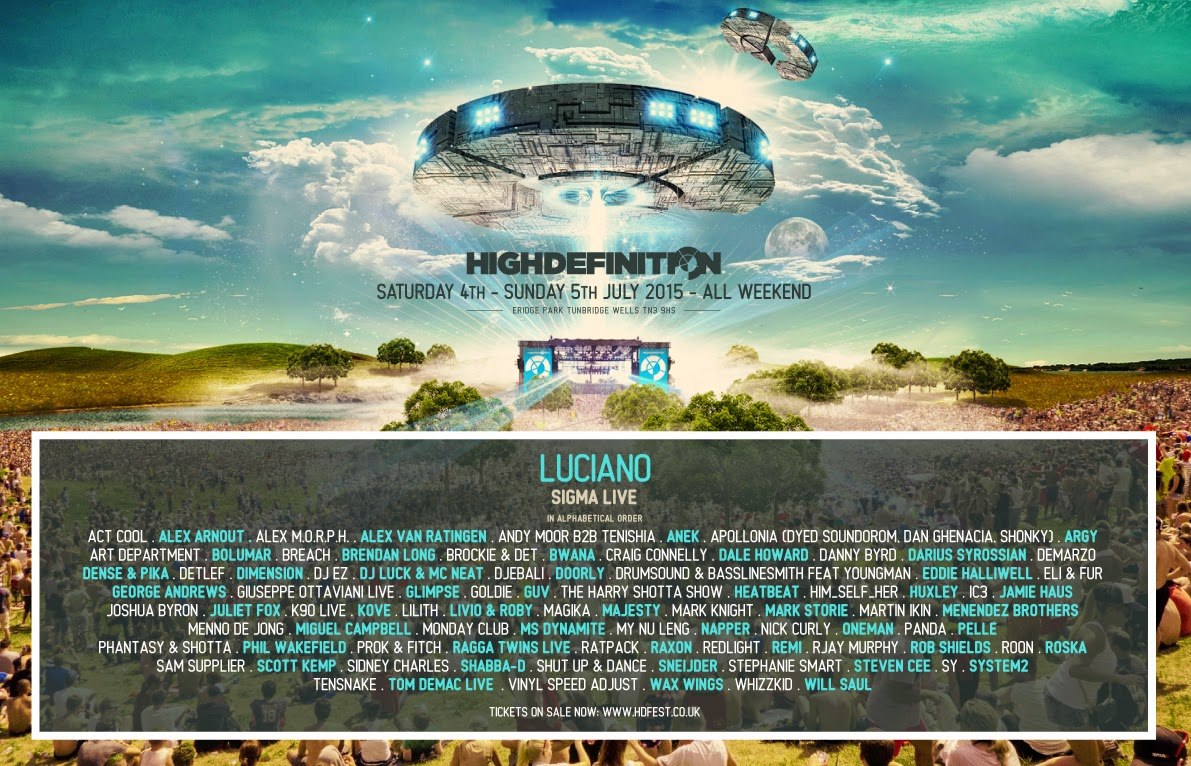 Huge High Definition festival 2015 Lineup