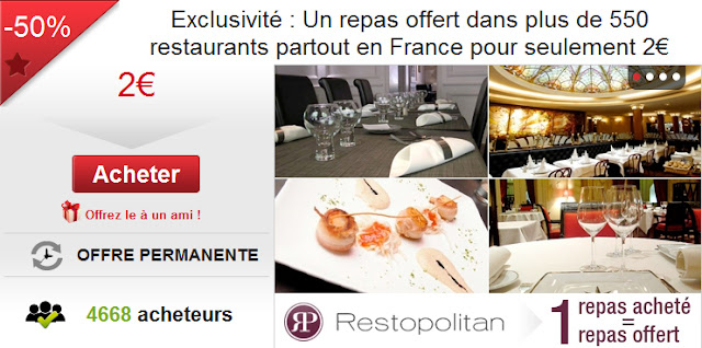 igraal: 1 repas acheté = le deuxième repas offert dans plus de 550 restaurants en France bon plan restaurant pas cher