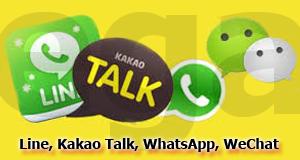 Perbandingan Line, Kakao Talk, WhatsApp, WeChat