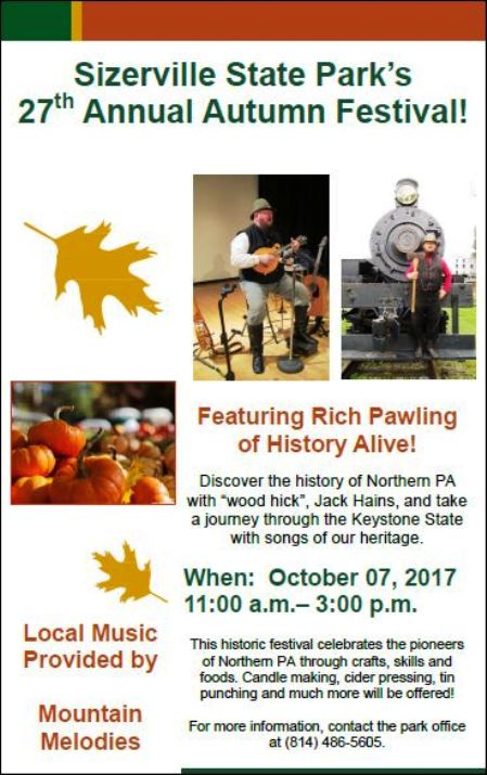 10-7 Sizerville State Park Festival