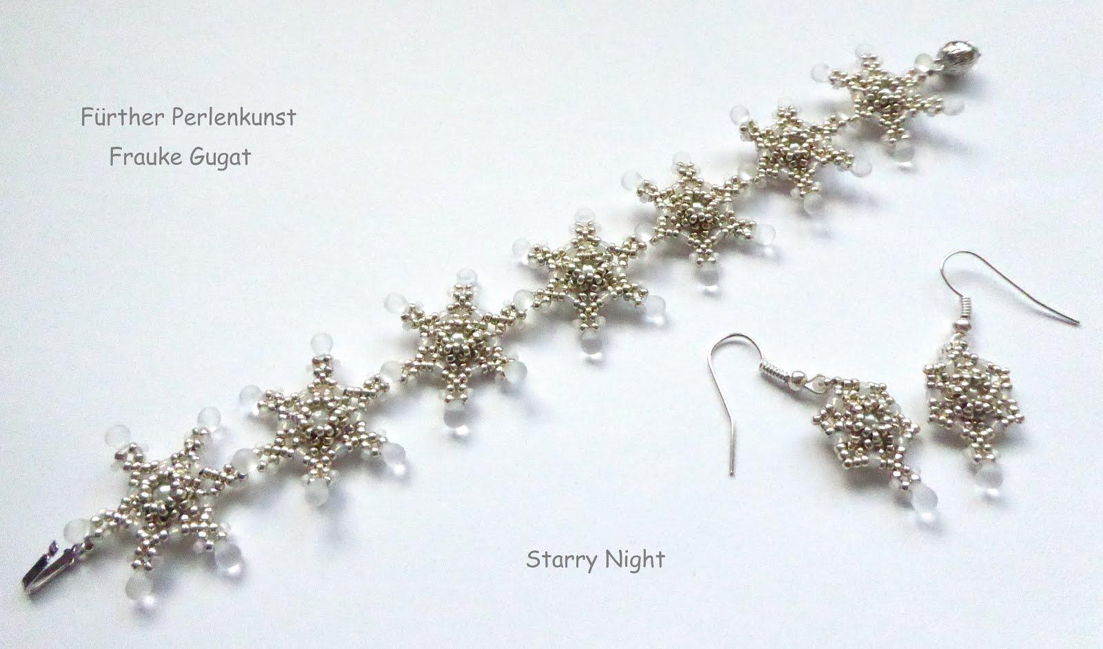 "Armband und Ohrringe ""Starry Night"""