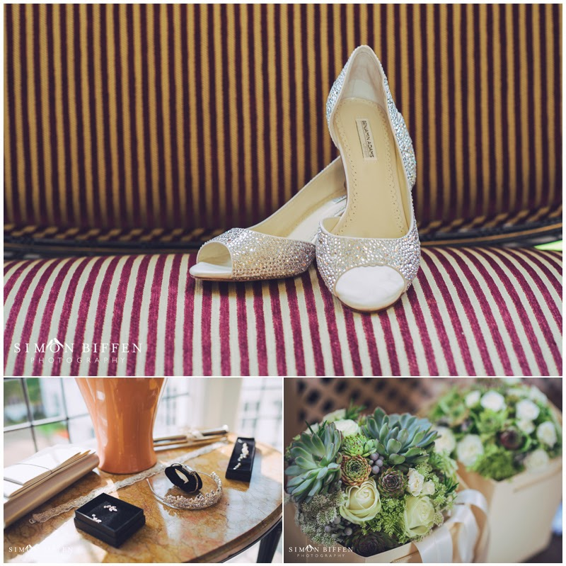 Danesfield House wedding bridal details