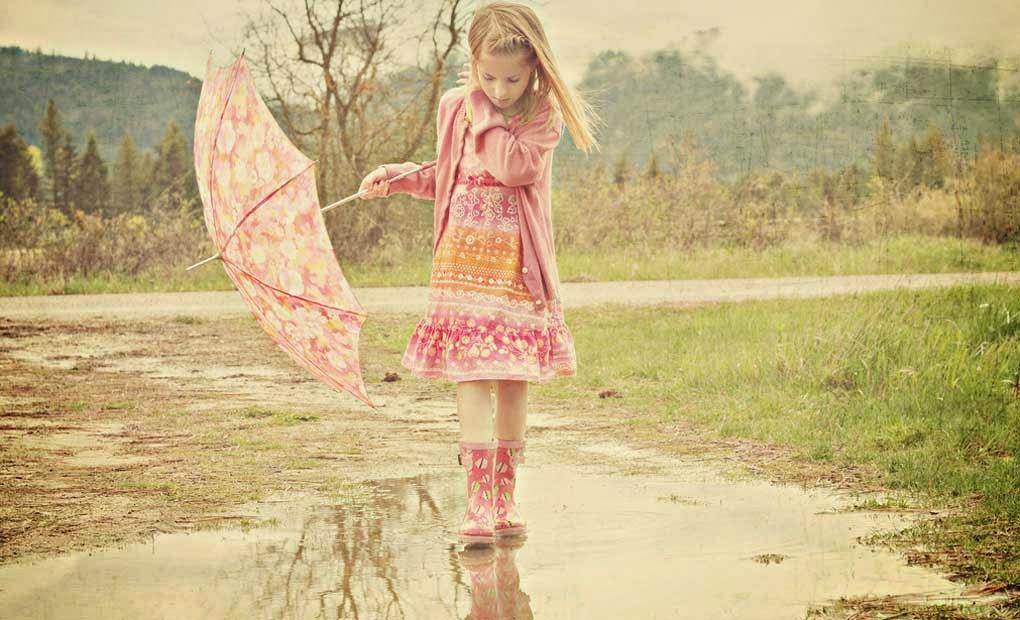 Child in Rainy Season