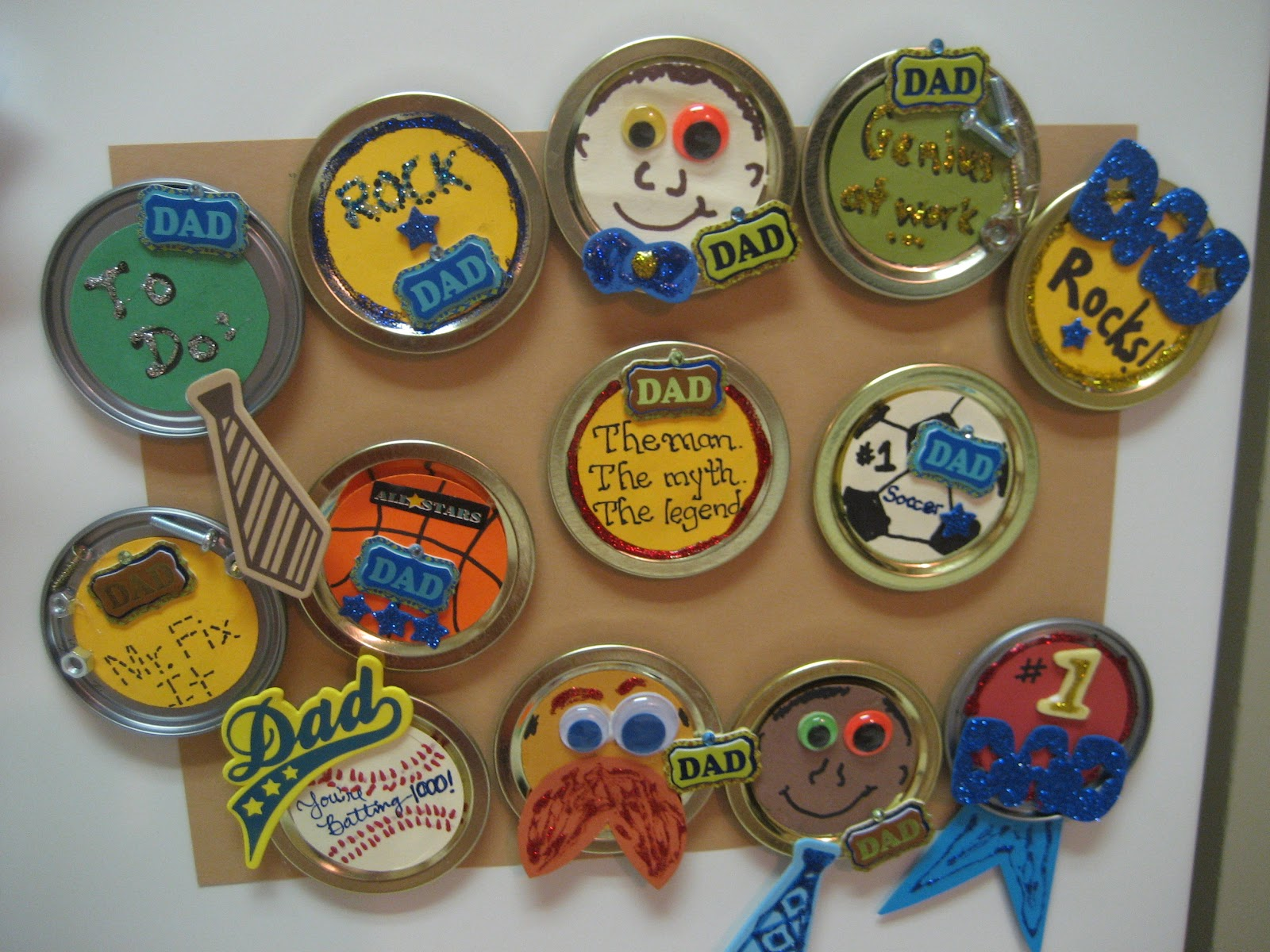 Grade one nut and her squirrelly crew father s day lid magnets