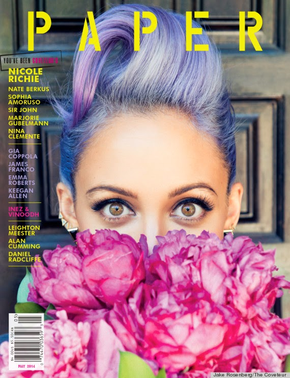 Nicole Ritchie for Paper Magazine purple hair