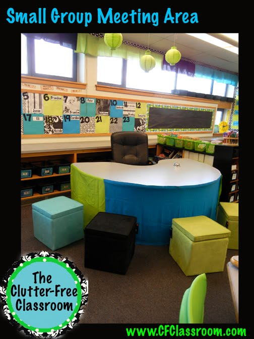 Classroom Meeting Ideas ~ Small group meeting area giddiness clutter free classroom