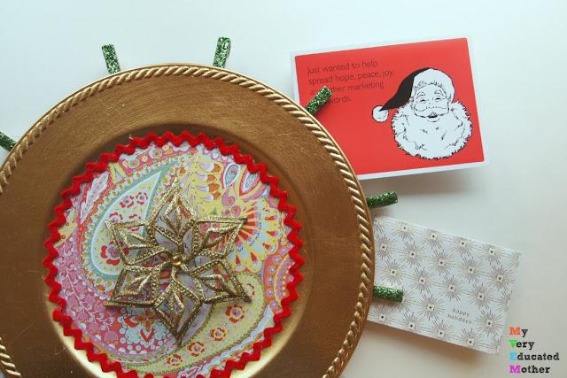 DIY Christmas Card Display and Holder