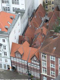 Luftbild von den Krameramtsstuben in Hamburg