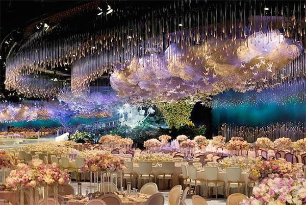 صور قاعة زفاف ابنة حاكم دبي محمد بن راشد قاعة فوق الخبال