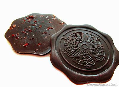 scharfe Zartbitterschokolade