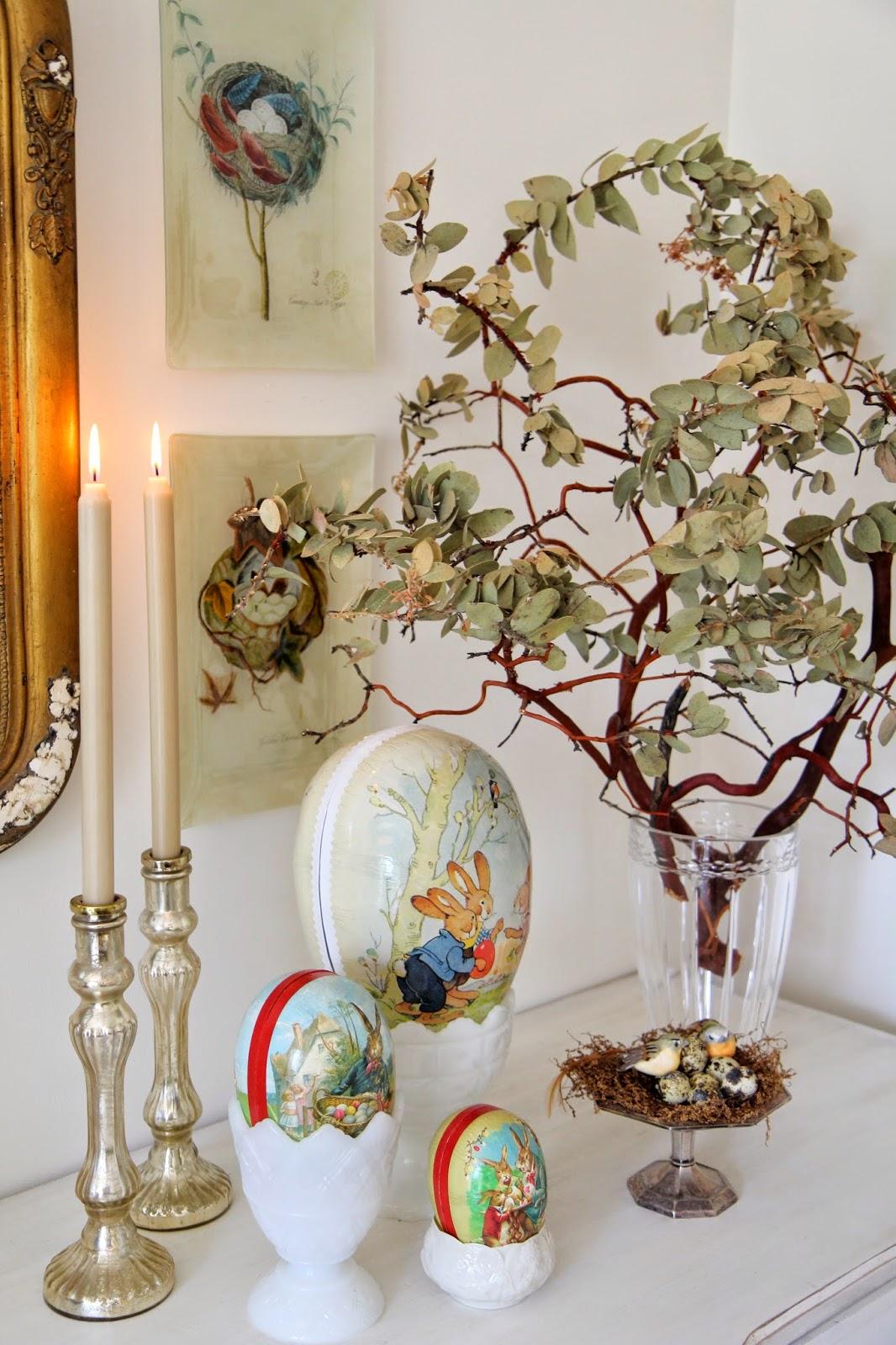 Cardboard eggs; Easter Buffet Table Decor - Nora's Nest