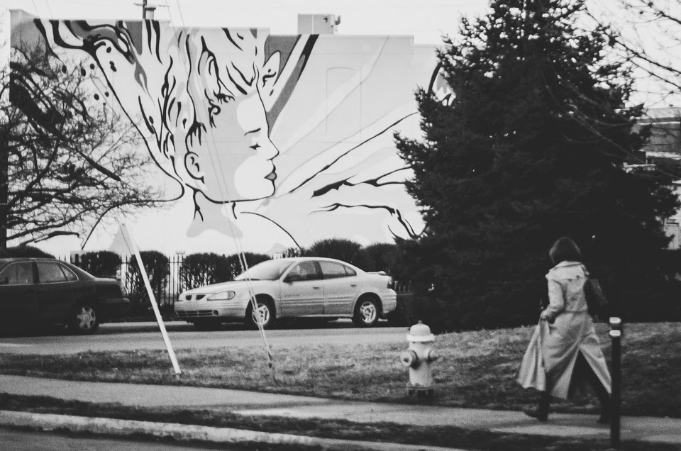 photograph of street art on mass ave, indianapolis