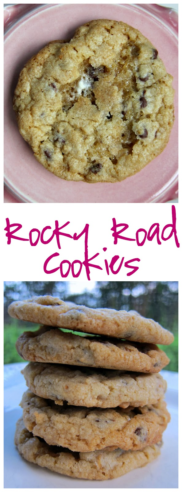 Rocky Road Cookies Recipe - cookies packed with chocolate chips, butterscotch chips, pecans and marshmallows. We couldn't stop eating these! I wanted to eat the whole batch!
