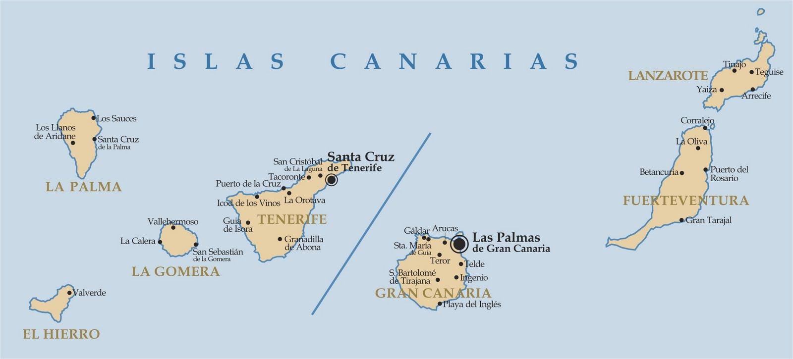 Tamaño Islas Canarias la Isla de Mayor Tamaño es la