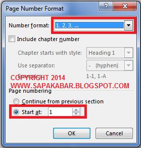 Mengatur jenis nomor halaman
