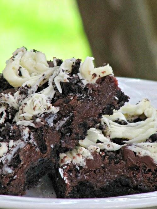 Once Upon A Chocolate Life Triple Chocolate Oreo Bars