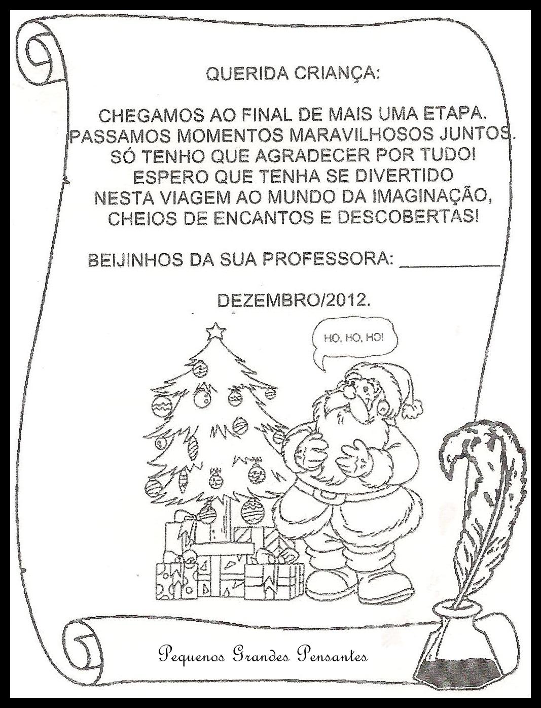 Excepcional Pequenos Grandes Pensantes.: Cartões de Natal para Educação Infantil WV79