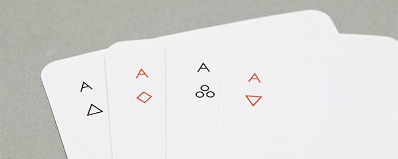 Baraja de Póker hiperminimalista