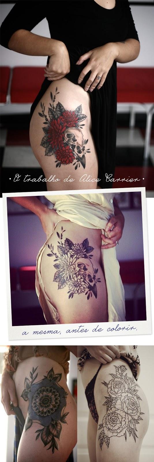 Tatuagem no quadril feminina delicada